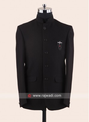 Charming Black Jodhpuri Suit