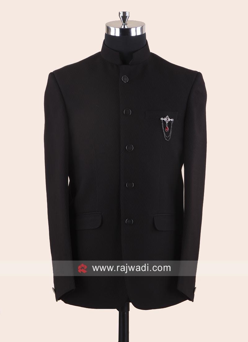 Charming Black Jodhpuri Suit