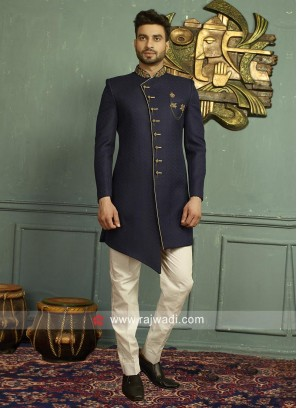 Charming Blue Color Indo Western