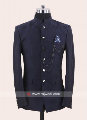 Charming Blue Color Jodhpuri Suit