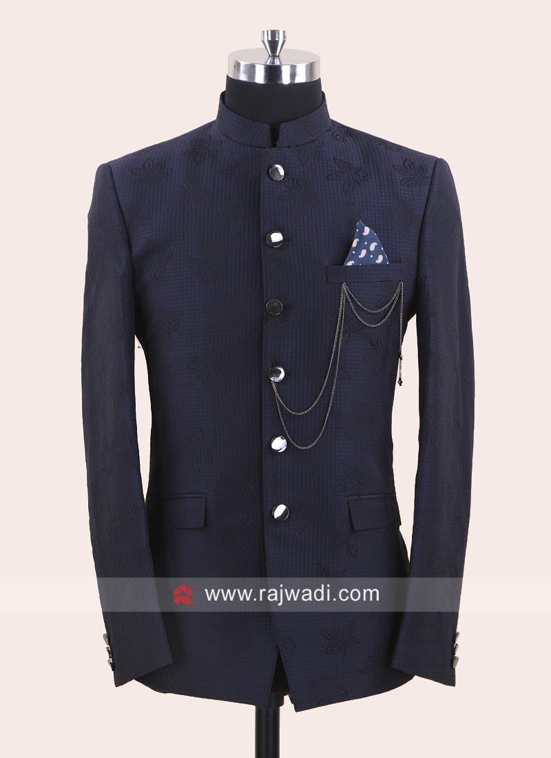 Charming Blue Color Jodhpuri Suit