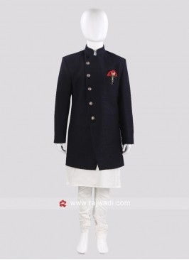 Charming Blue Indo Western For Boys