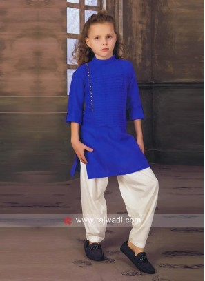 Charming Blue Pathani Set