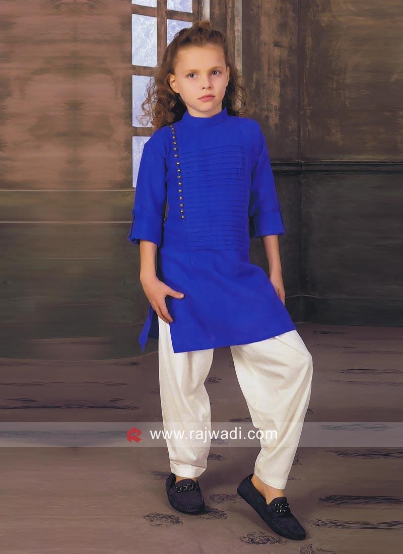 Charming Blue Pathani Set