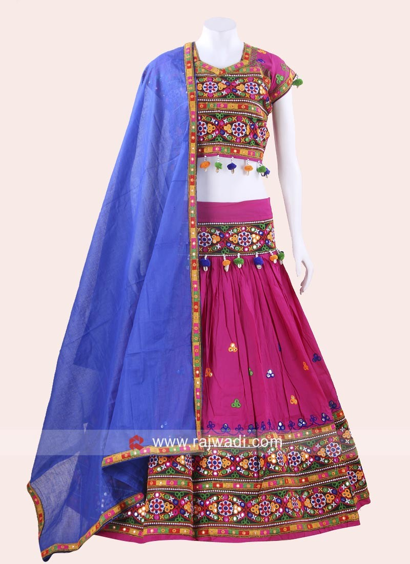 Navratri Chaniya Choli with Mirror Work