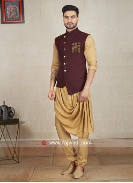 Charming Cotton Satin Nehru Jacket