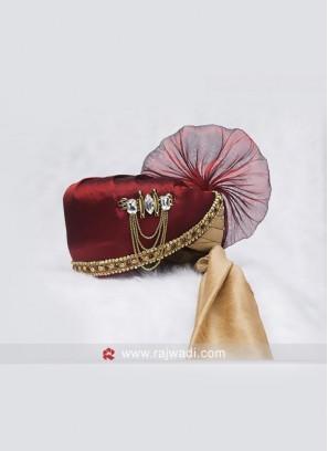Charming Cotton Silk Wedding Safa