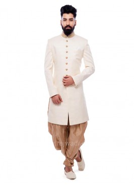 Charming Cream Color Patiala Suit