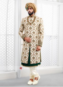 Charming Cream Color Sherwani