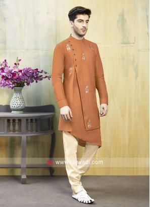Charming Orange Color Indo Western