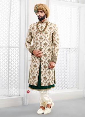 Charming Cream Color Sherwani