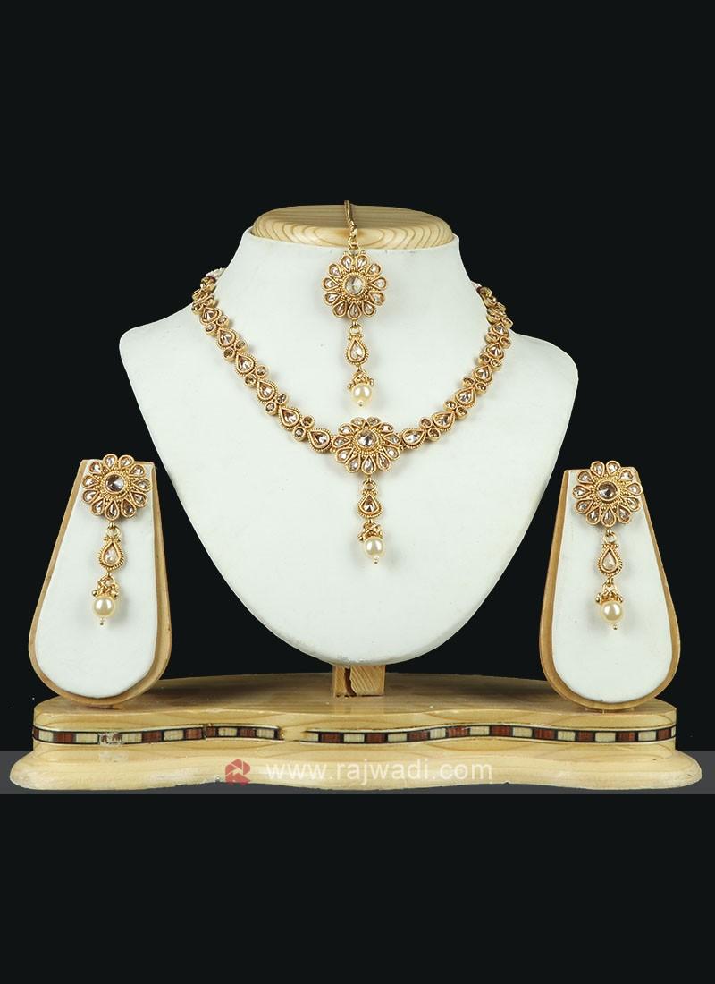 Charming Golden Necklace Set