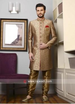 Charming Goldenrod Color Indo Western