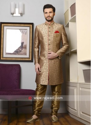 Charming Goldenrod Color Indo Western