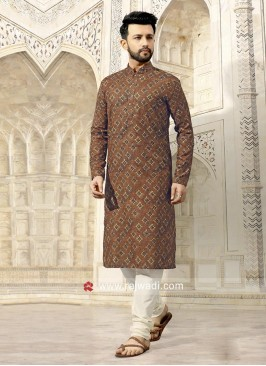 Charming Goldenrod Color Kurta Pajama
