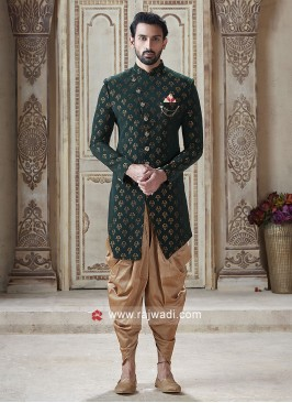 Charming Green Color Indo Western