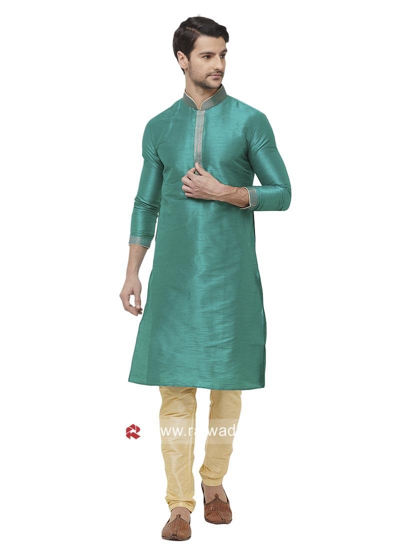 Charming Green Color Kurta Set