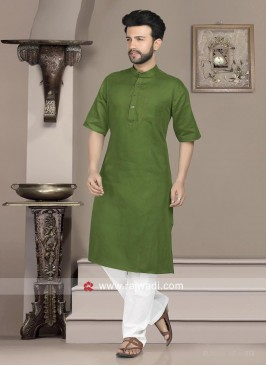 Charming Green Kurta Set