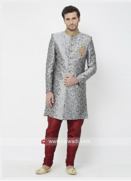 Charming Grey Color Indo Western