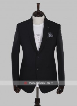 charming imported fabric black blazer