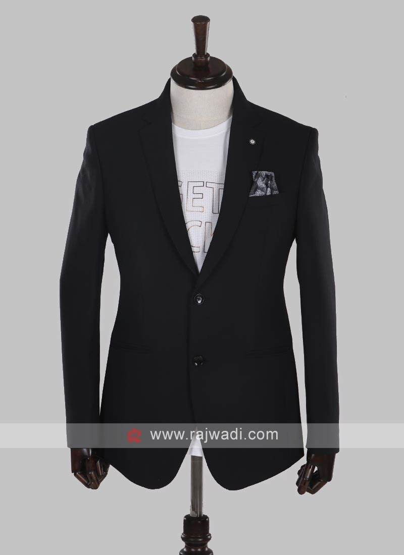 charming imported fabric black blazer