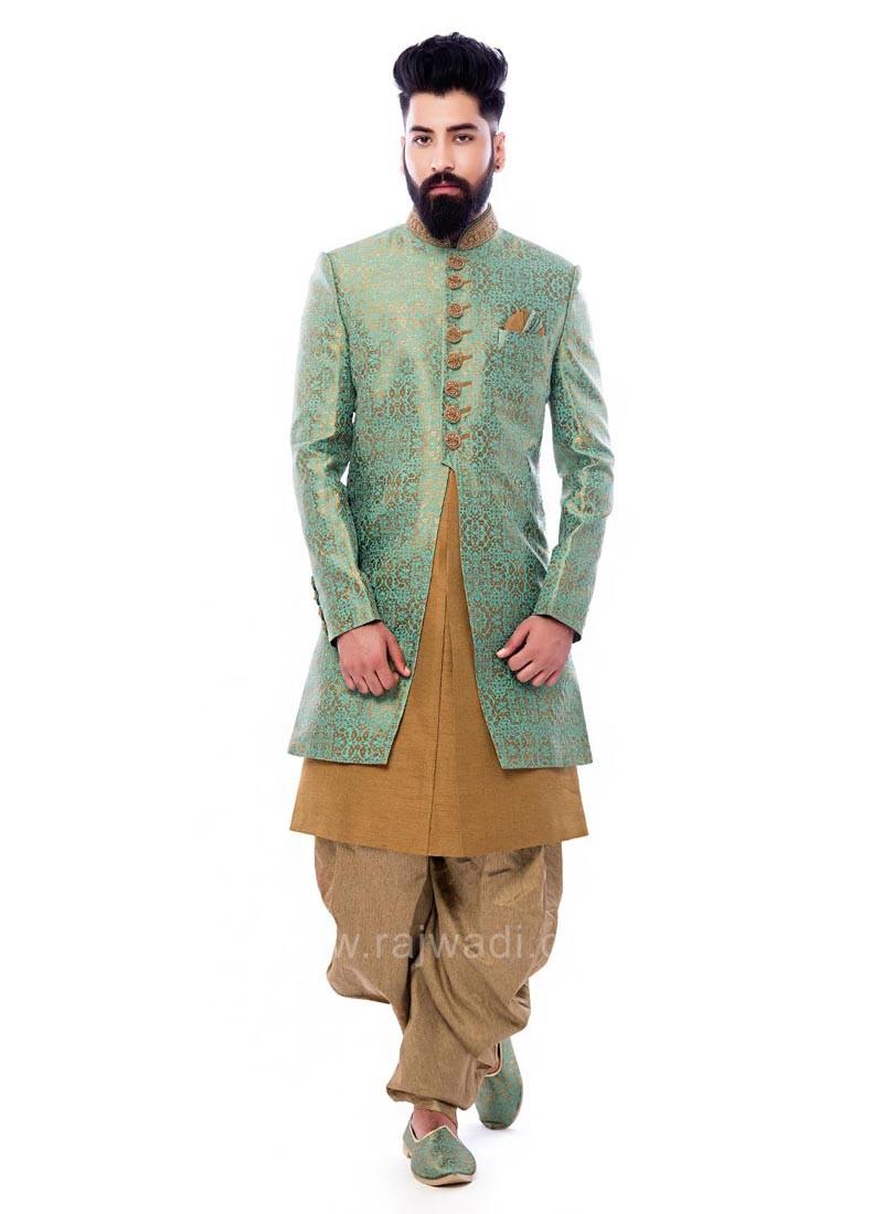 Charming Jacquard Fabric Indo Western
