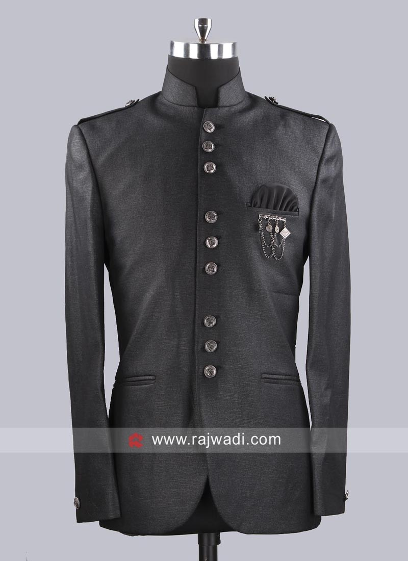 Charming Jodhpuri Suit With Fancy Buttons