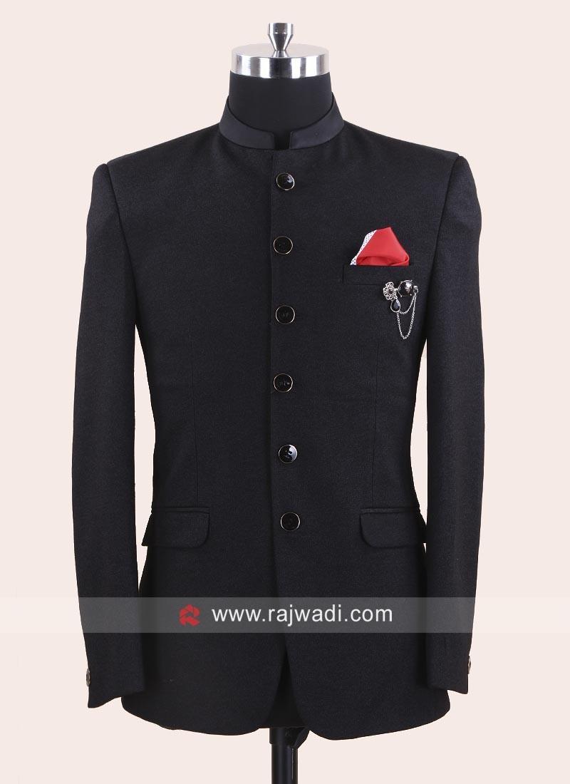 Charming Jute Fabric Jodhpuri Suit