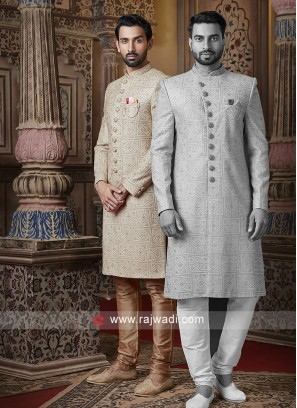 Charming Jute Silk Fabric Sherwani