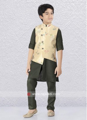 Charming Kids Linen Nehru Jacket