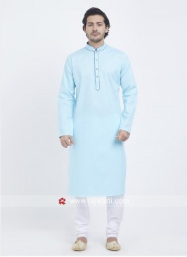 Charming Light Blue Color Kurta Pajama