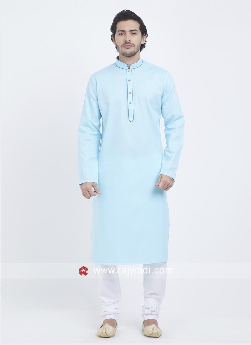 Charming Light Blue Color Kurta Pajama