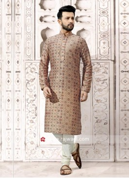 Charming Light Brown Color Kurta Set
