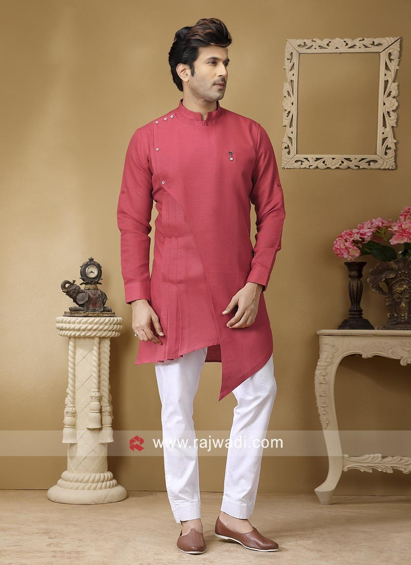 Charming Linen Fabric Pathani Suit