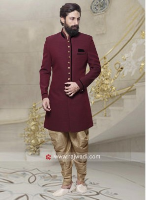 Charming Maroon Indo western