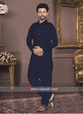 Charming Navy Color Pathani Set