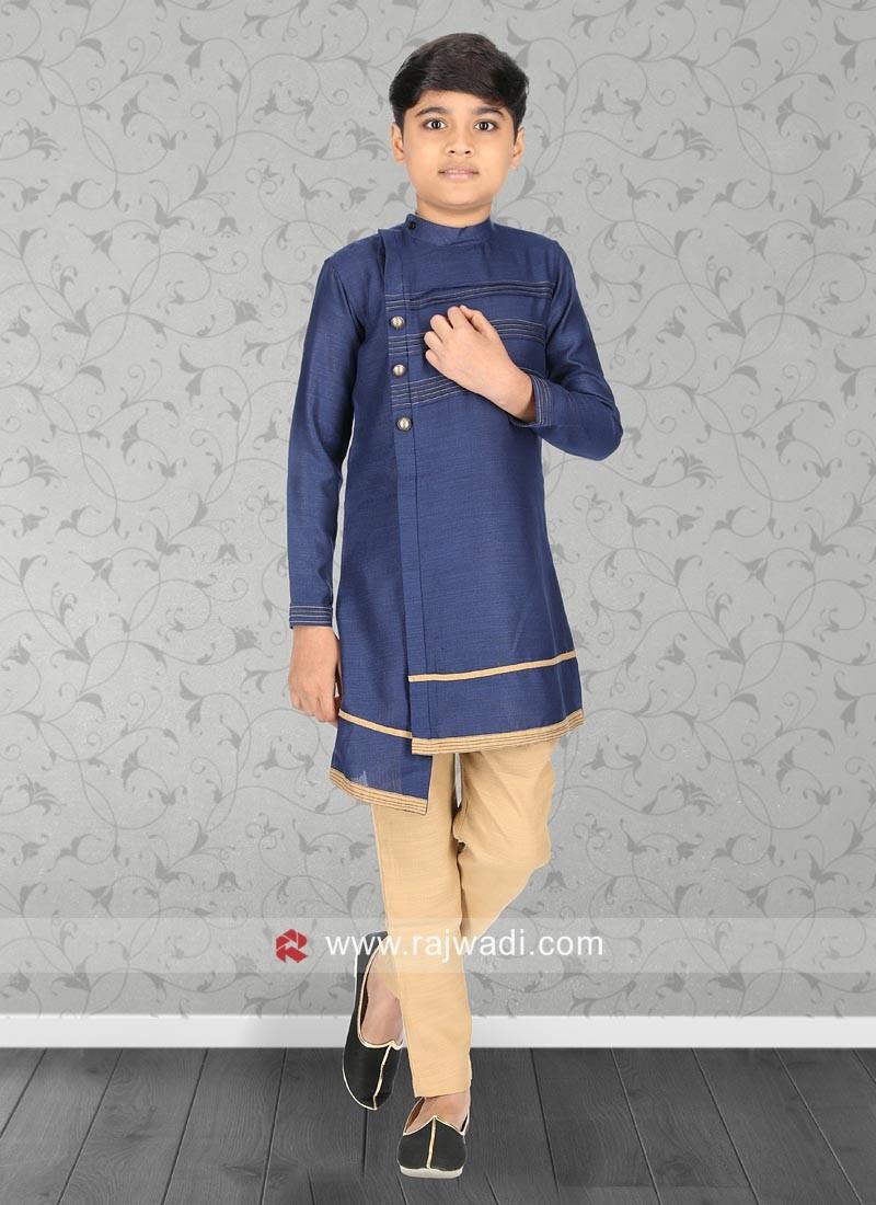 Charming Blue Color Kurta Pajama