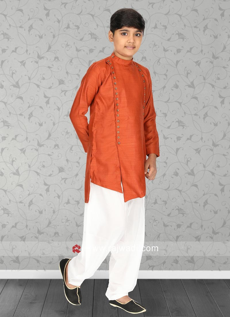 Charming Orange Color Kurta Pajama