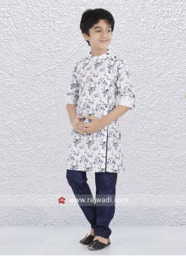 Charming Off White Printed Kurta Set