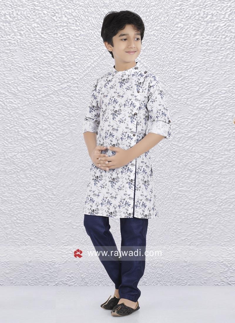 Charming Off White Printed Kurta Set