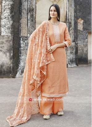 Charming Orange Salwar Kameez