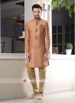 Charming Peach Color Indo Western