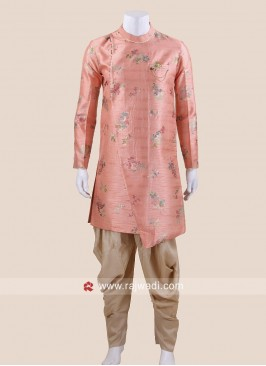 Charming Peach Color Patiala Suit