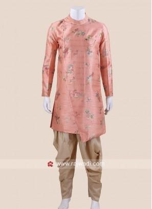 Charming Peach Color Patiala Suit