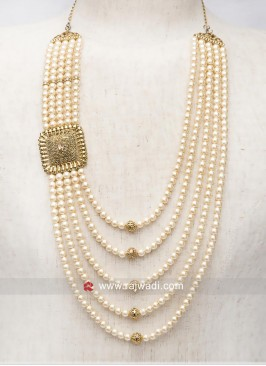 Charming Pearl Mala in Golden
