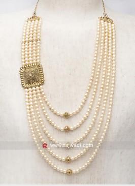 Charming Pearl Mala in Golden