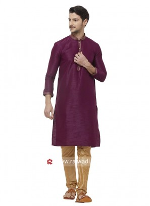 Charming Purple Color Kurta Set