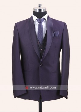 Charming Purple Color Suit