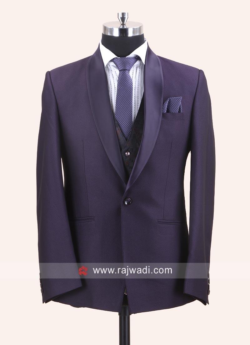 Charming Purple Color Suit