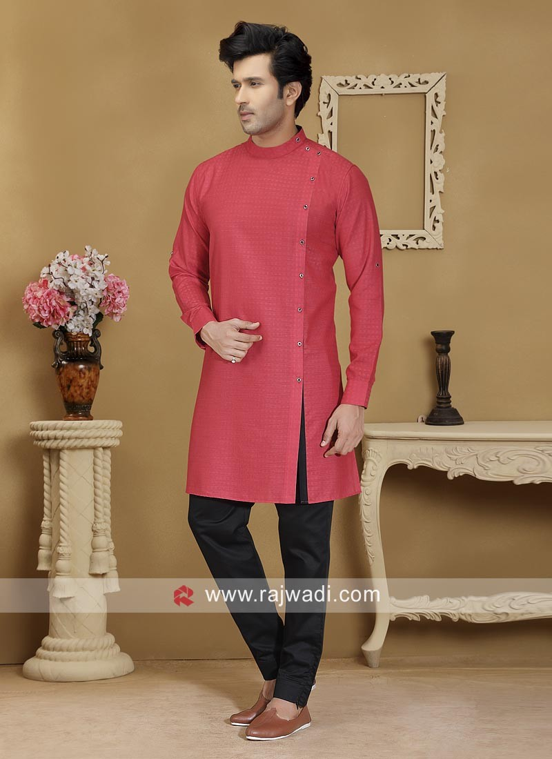 Charming Red Color Kurta Set
